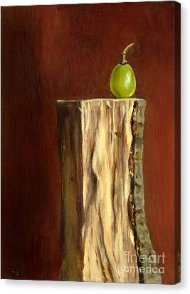 Grape On Wood Canvas Print