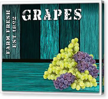 Blue Grapes Canvas Print - Grape Sign by Marvin Blaine