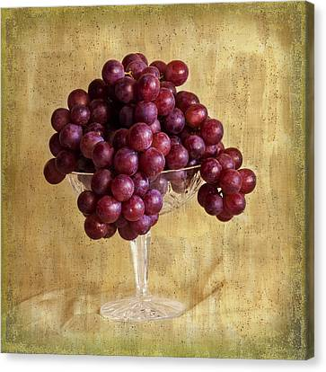 Canvas Print featuring the photograph Grapes And Crystal Still Life by Sandra Foster