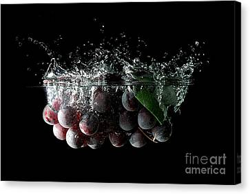 Wine Reflection Art Canvas Print - Grapes by Andreas Berheide