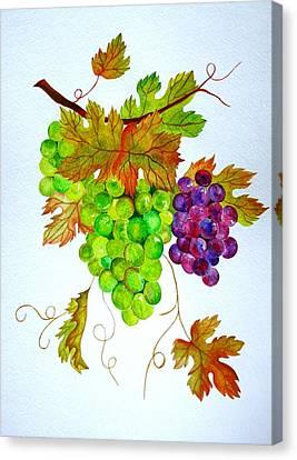 Grapes Canvas Print by Elena Mahoney