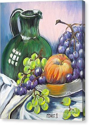 Grapes Galore Canvas Print by Marilyn  McNish