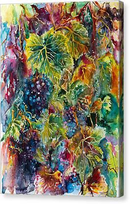 Grapes Canvas Print by Kovacs Anna Brigitta