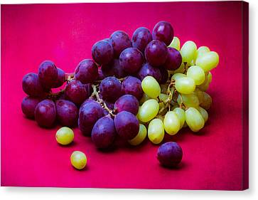Grapes White And Red Canvas Print by Alexander Senin