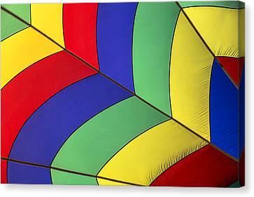 Graphic Hot Air Balloon Detail Canvas Print by Garry Gay