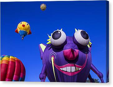 Graphic Hot Air Balloons Canvas Print by Garry Gay