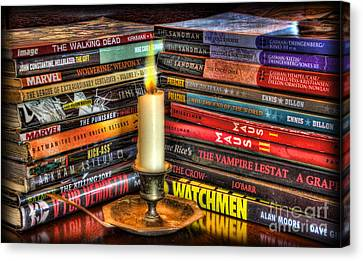Graphic Novels By Candlelight  Canvas Print