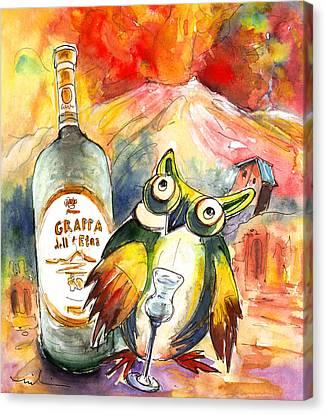 Grappa Dell Etna Canvas Print by Miki De Goodaboom