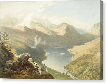 Grasmere From Langdale Fell, From The Canvas Print by James Baker Pyne