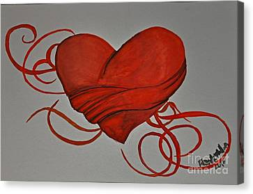 Grasping For A Heart Canvas Print