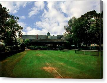 Grass Courts At The Hall Of Fame Canvas Print by Michelle Calkins
