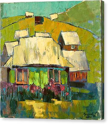 Grass In The Yard Canvas Print by Anastasija Kraineva