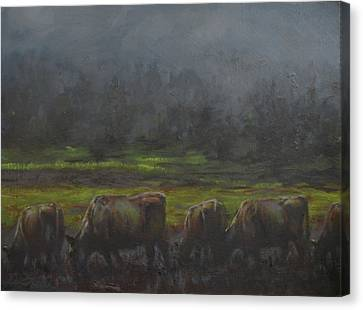 Grass It's What's For Dinner Canvas Print by Mia DeLode