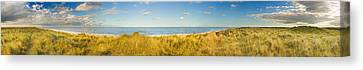 Grass On The Beach, Horsey Beach Canvas Print by Panoramic Images