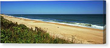 Grass On The Beach, Montauk Point Canvas Print by Panoramic Images