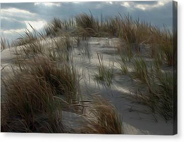Canvas Print featuring the digital art Grassy Dunes by Kelvin Booker