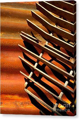 Grate Shadows Canvas Print by Robert Riordan