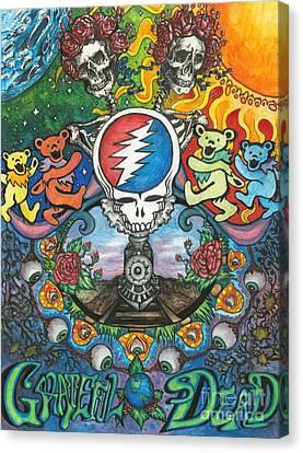 Grateful Dead Fantasy Canvas Print by Amanda Paul