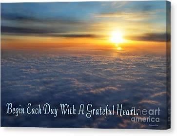 Christian Poetry Canvas Print - Grateful Heart by Belinda Rose
