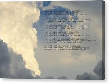 Grateful Skies Canvas Print