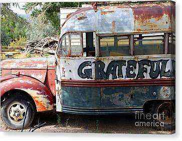 Graffiti Canvas Print - Grateful by Sophie Vigneault
