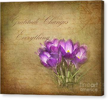 Gratitude Changes Everything Canvas Print by Kathi Mirto