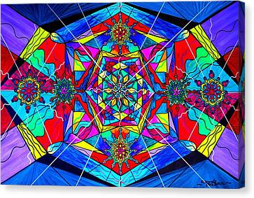 Sacred Canvas Print - Gratitude by Teal Eye  Print Store