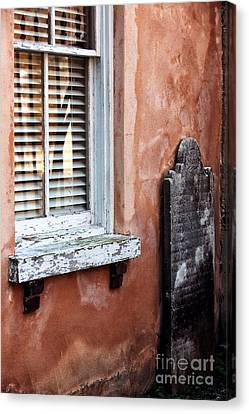 Grave By The Window Canvas Print by John Rizzuto