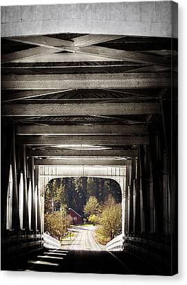 Grave Creek Covered Bridge Canvas Print by Melanie Lankford Photography