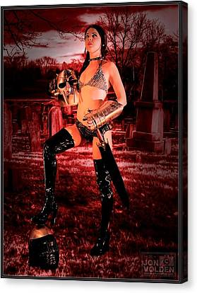 Grave Hunter Canvas Print