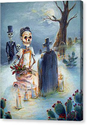 Grave Sight Canvas Print by Heather Calderon