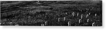 Gravestones On Last Stand Hill Canvas Print by Panoramic Images