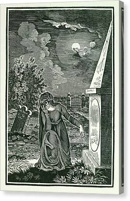 Graveyard Canvas Print by British Library
