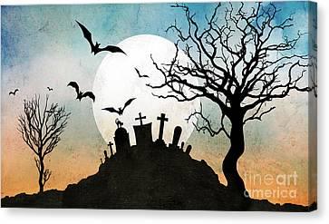Graveyard Hill Canvas Print by Bedros Awak