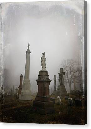 Graveyard Morning Canvas Print