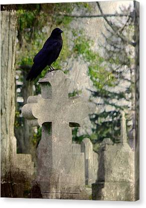 Graveyard Occupant Canvas Print by Gothicrow Images