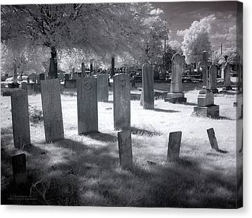 Graveyard Canvas Print by Terry Reynoldson