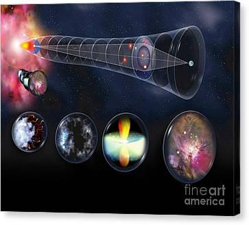 Observer Canvas Print - Gravitational Lens by Jos� Antonio Pe�as