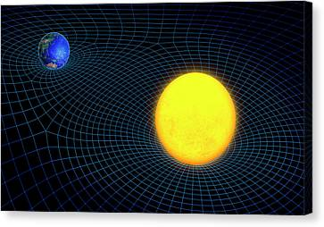 Gravity In Outer Space Canvas Print by Andrzej Wojcicki