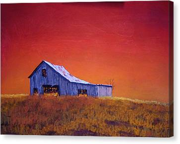 Gray Barn Canvas Print by William Renzulli