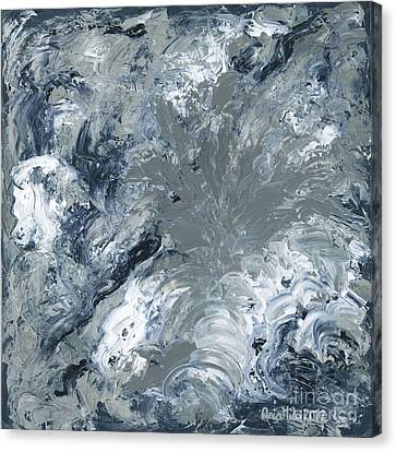 Gray Color Of Energy Canvas Print by Ania Milo