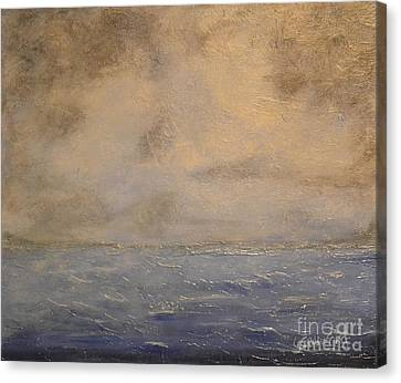 Gray Dawn Canvas Print by Lori Jacobus-Crawford