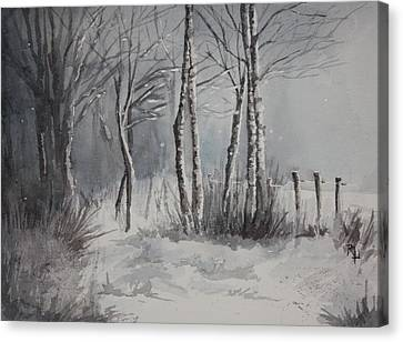 Gray Forest Canvas Print by Rachel Hames