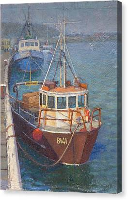 Gray Mouth 1980s Canvas Print by Terry Perham