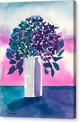 Canvas Print featuring the painting Gray Vase by Frank Bright