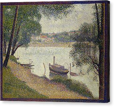 Gray Weather Canvas Print by Georges Seurat
