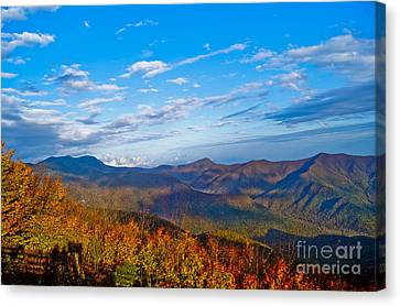 Canvas Print featuring the photograph Graybeards Mountain by Debra Crank