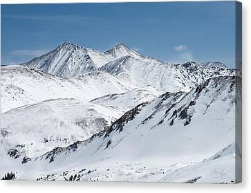 Grays And Torreys From Loveland Ski Area Canvas Print by Aaron Spong