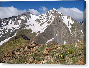 Grays And Torreys Peak Canvas Print by Aaron Spong