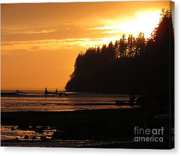 Grays Harbor Sunset I Canvas Print
